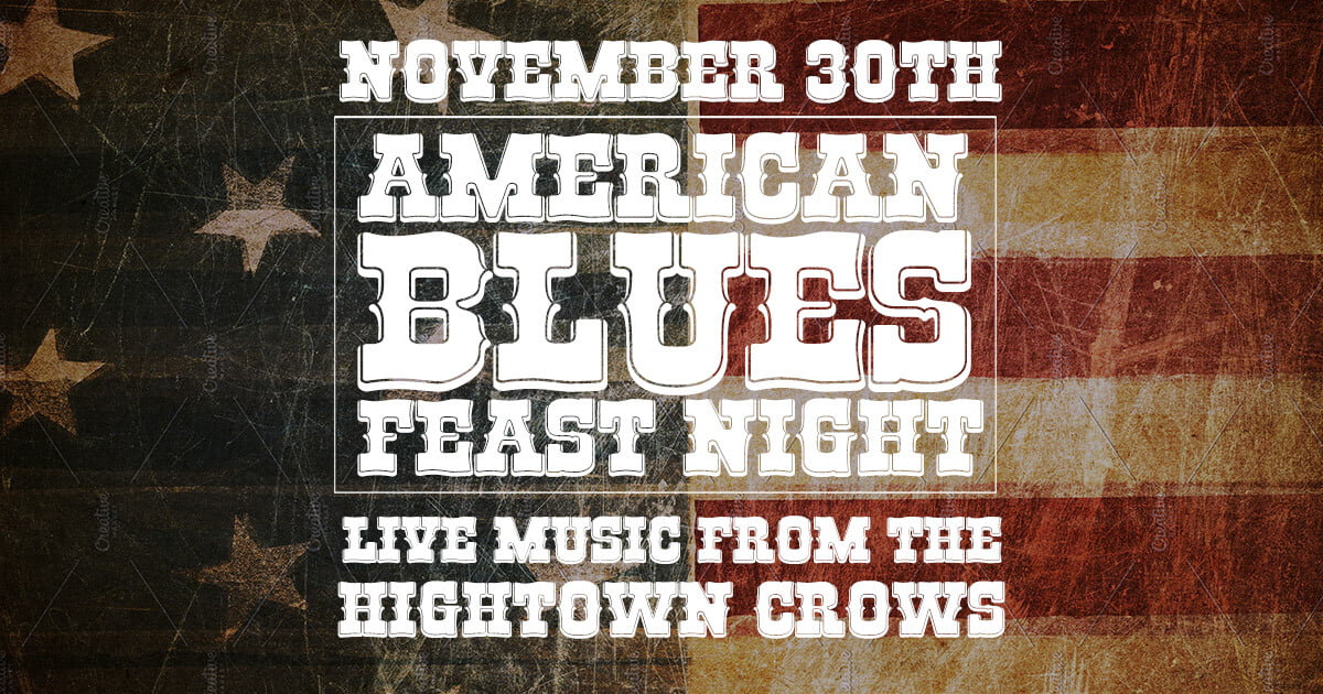 American Blues Feast Night at the Scott Arms November 30th 2019