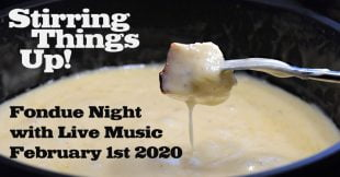 Fondue Night at The Scottt Arms Kingston February 1st 2020