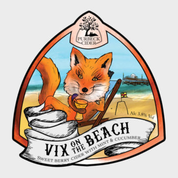 Purbeck Cider Vix on the Beach